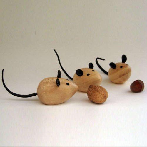 Ratiños de madeira